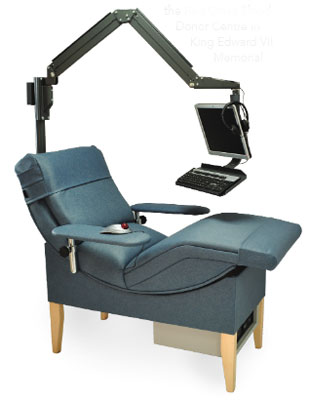 blue blood donor chair