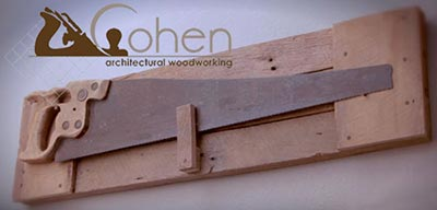 Phillip Cohen, founder and CEO of Cohen Architectural Woodworking, St. James, still has his first saw.