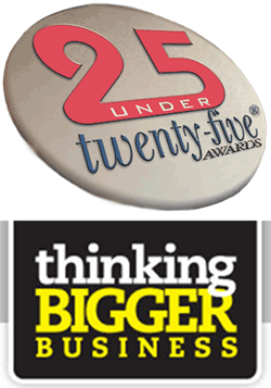 25 under twenty-five Thinking Bigger Business award