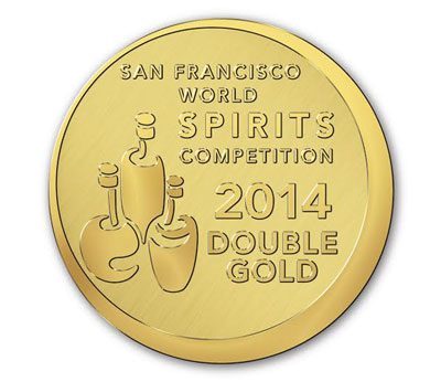 San Francisco World Spirits Competition 2014 Double Gold medal