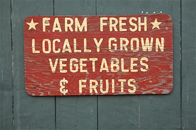 Farm fresh farmers market sign