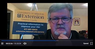 Screenshot of David Burton in virtual meeting