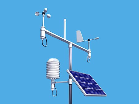 Weather station receiving transmissions