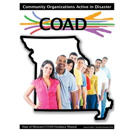 Front cover of Missouri Community Organizations Active in Disaster Guidance Manual