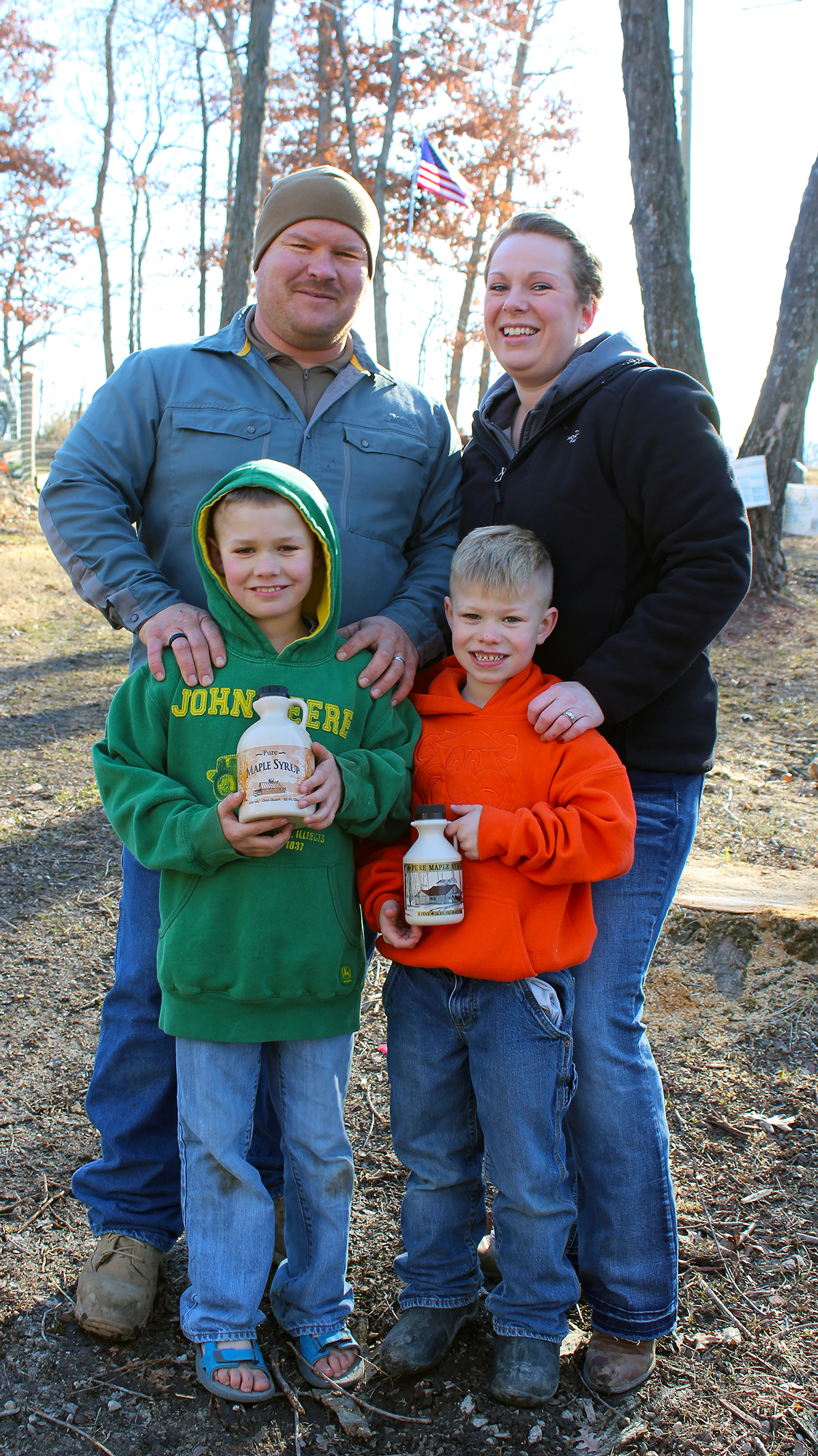 Marine veteran Jeremy Beaver and his family make and sell maple syrup near Mark Twain Lake. Beaver is one of 300,000 post-9/11 veterans expected to return to Missouri in the next decade.