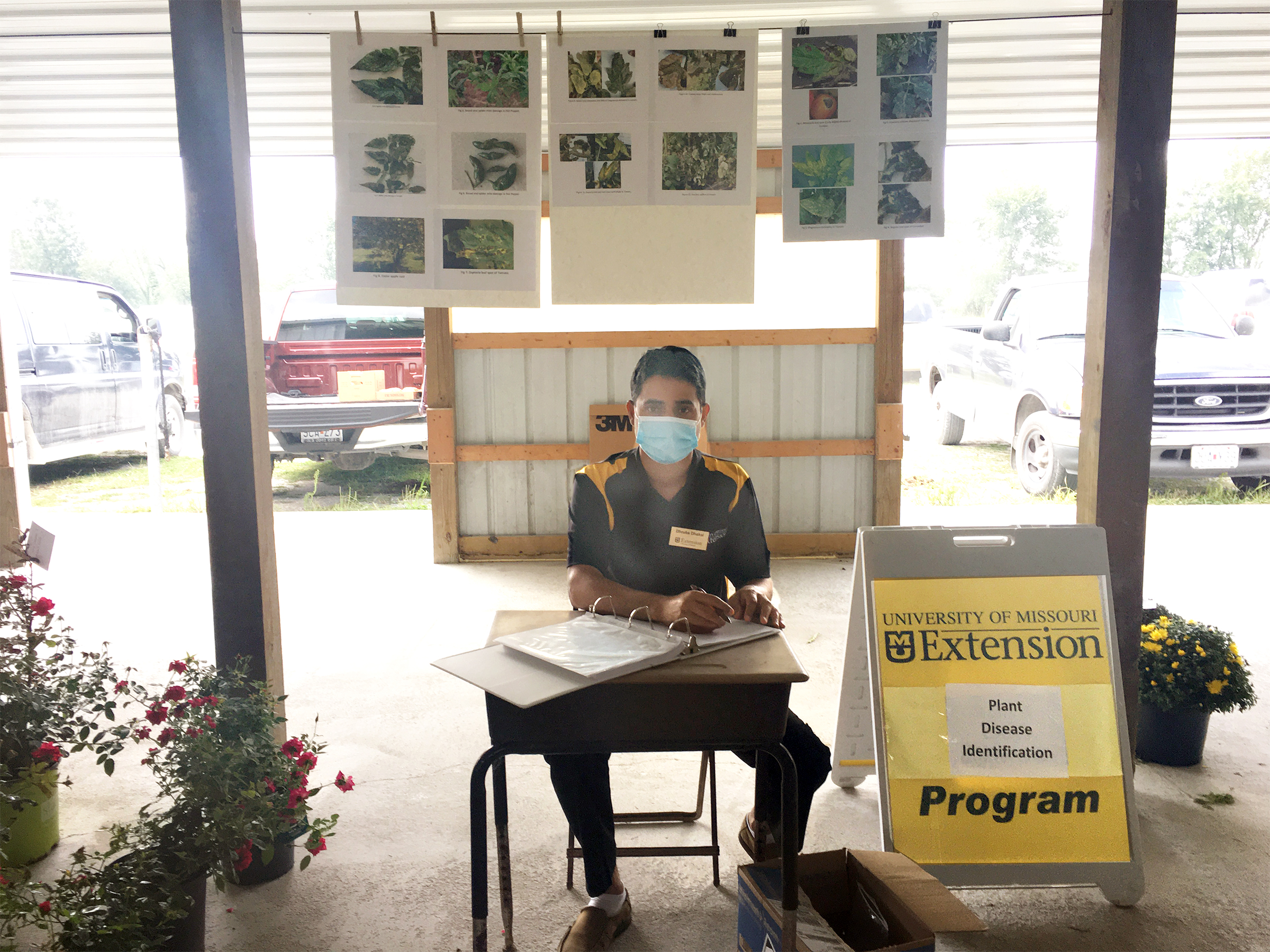 MU Extension agronomist Dhruba Dhakal started a plant diagnostic clinic at the Clark Produce Auction in mid-June.