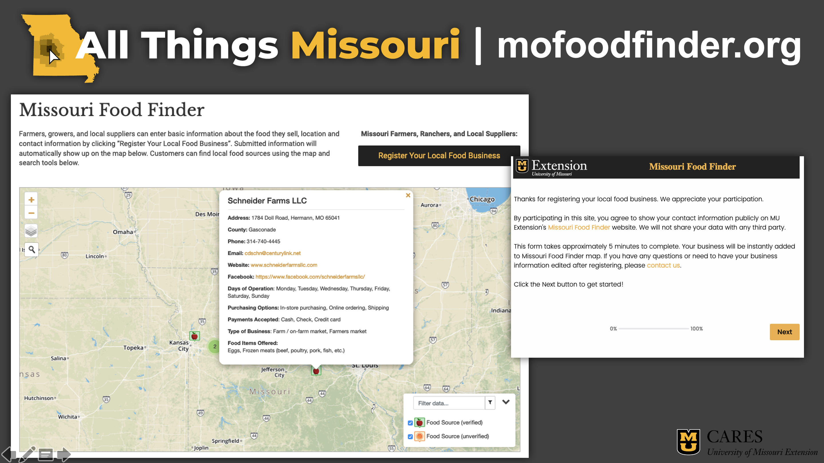 Missouri Food Finder- All Things Missouri.