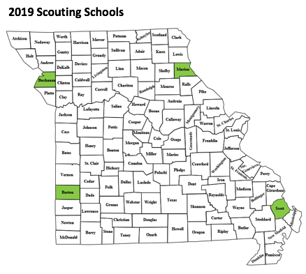 2019 scouting school locations