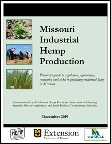 Front cover of the report Missouri Industrial Hemp Production