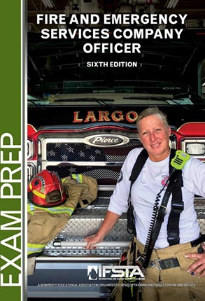 Fire and Emergency Services Company Officer, 6th Edition Exam Prep cover.