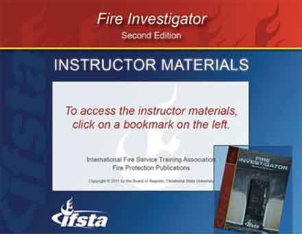 Fire Investigator, 2nd Edition curriculum cover