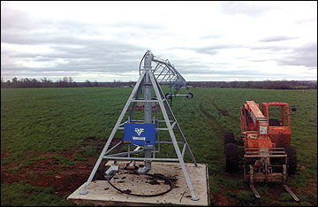 . Center-pivot irrigation system.