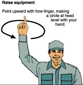 Raise equipment.