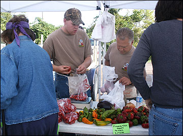 Selling produce