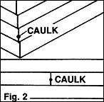 Gaps in sidings and at corners of house