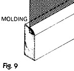 Cut and place molding