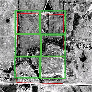 Aerial maps can be used to outline and assess these areas on your farm.