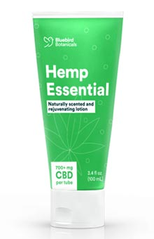 A tube of topical CBD.