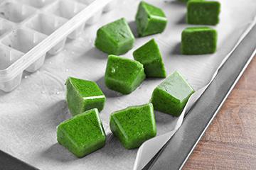 Pesto ice cubes