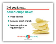 Baked chips shelf talker