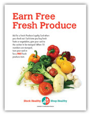 Fresh Produce loyalty card program sign
