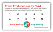 Fresh produce loyalty cards