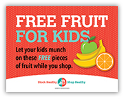 Free fruit for kids sign