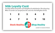 Milk loyalty cards